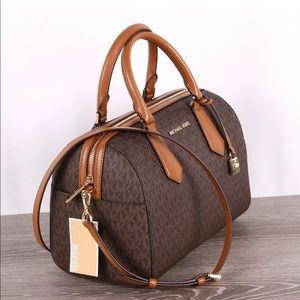 Michael Kors LARGE Solid Satchel Crossbody Bag